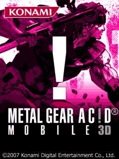 java игра Metal Gear Acid 3D