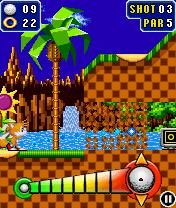 java игра Sonic The Hedgehog Golf